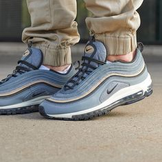 On-foot look at the Nike Air Max 97. Cop the wool version of this classic kick now. #Nike #AirMax  #sneakers #shoes #kicks