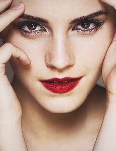 Emma Watson... gorgeous eye makeup. (photo credit: Mariano Vivanco)