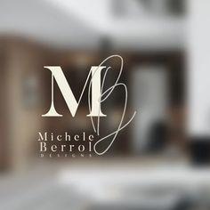 70 Ideas Design Interior Logo Fonts For 2019 Wm Logo, Logo Branding, Branding Design, Brand Identity, Portfolio Logo, Portfolio Design, Portfolio Layout, Web Design, Flyer Design