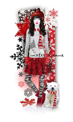 """Winter Dreams"" by tracireuer ❤ liked on Polyvore featuring art"