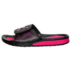 Nike Jordan Hydro 5 Gs Big Kids 820262-009 Black Pink Girls Sandals Youth Size 6