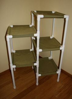The 5 Tier Cat Condo, Heavy Duty Cordura Fabric.. they want $200 for this but I could totally make this for louis!!