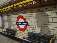 Baker Street Tube Station With Sherlock Holmes London #London, #England, #travel