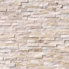 Fancy Decorative Mosaic - Roman Beige Stacked Stone Panels Panel, Set of 30 - Siding and Stone Veneer Marble Wall, Wall Tiles, Backsplash Tile, Stacked Stone Panels, Faux Stone Panels, Stone Veneer Panels, Dry Stack Stone, Stone Accent Walls, Fireplace Surrounds