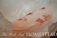 Salted Rosemary Side Pork | The Well Fed Homestead
