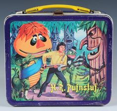 Pufnstuf lunchbox, 1970 by Aladdin Retro Lunch Boxes, Lunch Box Thermos, Tin Lunch Boxes, Metal Lunch Box, Lunch Containers, Lunch Bags, Retro Toys, Vintage Toys, 1970s Toys