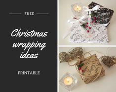 Idee per pacchetti di Natale e carte stampabili