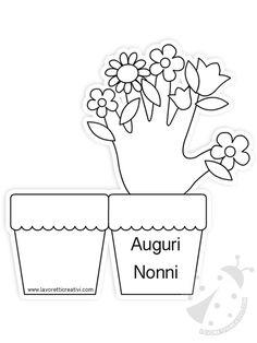 אגרטל עם פרחים עבור יום סבים וסבתות