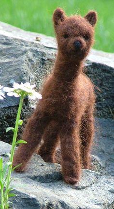 Needle felted alpaca - Alpacas at the Well