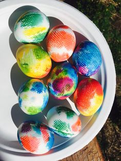 The prettiest Easter eggs at the hunt this year: tie-dye eggs.