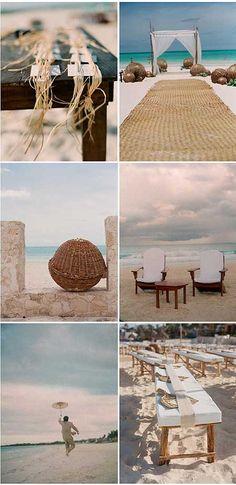 Boda en la playa | ideas de decoración | fotos | ve la pagina :)