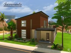 Sacramento house by CyberReb at TSR via Sims 4 Updates