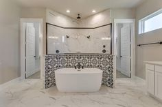 Corner Bathtub, Custom Homes, Alcove, Bathroom, Wood, Modern, House Bath, Washroom, Trendy Tree