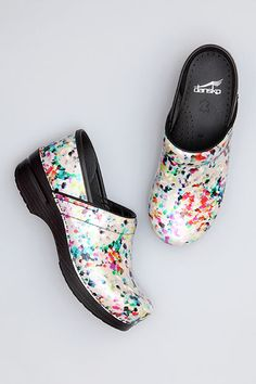 Art Palette Patent Leather | Dansko nursing clog for healthcare professionals