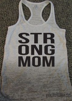 Strong Mom Tank Top. Workout Tank Top. Fitness Motivation. Crossfit Tank. Motivational Workout Tank Top. Running Shirt. by WorkItWear