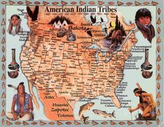 Image Detail for - Map of Native American Tribes