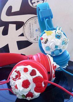 Kawaii Kitty Lolita Urbanears Deco Headphones Urban by glamasaurus, $135.00