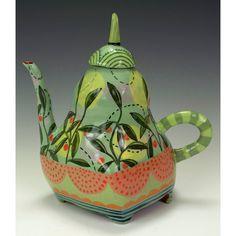 Decorative Pear teapot- nancy gardner