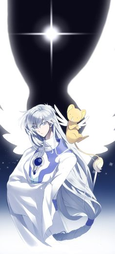 Bun-o, Cardcaptor Sakura, Yue (Cardcaptor Sakura), Kero-chan, Wide Sleeves, Feather Wings
