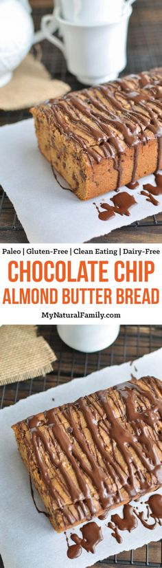 This Paleo almond butter bread is the perfect combination of almond butter and chocolate - but in bread form! Does life get any better? It's like combining my three favorite foods (peanut butter, chocolate, and bread). Plus it is super easy to make! {Gluten-Free, Clean Eating, Dairy-Free, Vegan}