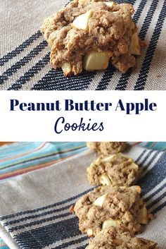 #healthy #glutenfree Peanut Butter Apple Cookies! Super easy to make and tasty!! YUM! #paleo