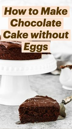 Eggless Recipes, My Recipes, Recipies, Cooking Recipes, How To Make Chocolate, Chocolate Cake, Egg Allergy, Baking Tips, Allergies