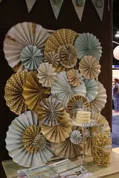 Wonderful paper rosettes
