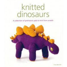FeltFoxes loves this knitted dinosaur book. How cute!