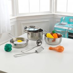 With Our Real Metal, Kid Sized KidKraft Deluxe Cookware Set With Food,  Little Chefs Can Pretend To Cook Just Like Mom And Dad. This Set Is Built  To Stand Up ...