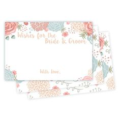 Wedding Guest Wishes For Bride and Groom - Spring Floral Design