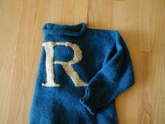 Free Knitting Pattern: How to Make a Harry Potter Initial Sweater for All Ages.