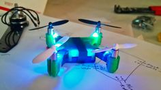3D Printed Micro Quadcopter.   probably like .... 25$ worth of parts?