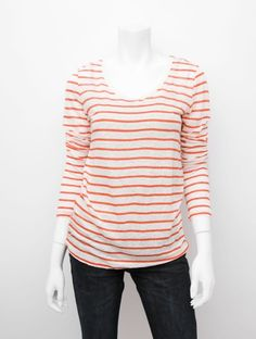 Striped nautical tee with buttons