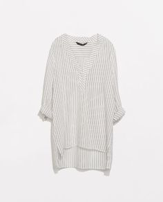 Image 7 of MAO COLLAR STRIPED BLOUSE from Zara