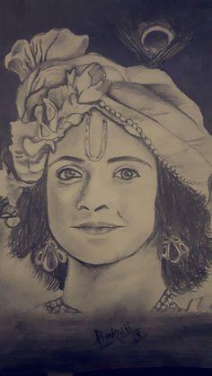 Potrait of Sumedh AKA Krishn Radha Krishna Sketch, Portrait, Tattoos, Tatuajes, Headshot Photography, Tattoo, Portrait Paintings, Drawings, Portraits