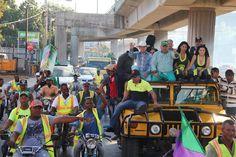 Amable Aristy recorre junto a  Franklin Ferreras calles SDN; aclara aún no hay pacto con el PLD