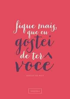 Não me deixe só - Vanessa da Mata poster | musica | música | music | músicas | song | quote | trecho | frase | frases | parte | tipografia | tipography