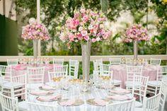 Arranjo de mesa - Casamento romântico