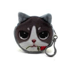 11 Style Mini 3D Cat Plush Coin Purse Animals Prints Zipper Wallets Harajuku Children Bag Women Billeteras Cute Monedero Gato