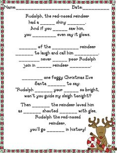 Suddenly...2nd Graders!: Rudolph Spelling