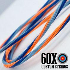 "60X Custom Strings 46/"" Fast Flight Tan Recurve Bowstrings Bow String"