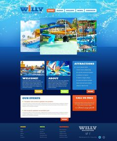 Amusement & Water Park WordPress Themes - Willy Water Park (WordPress template) Item Picture