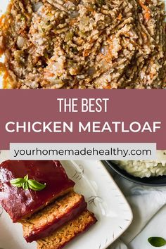 This is not your grandma's average meatloaf recipe! Healthy chicken meatloaf with hidden veggies is an excellent dinner to serve your entire family. It utilizes fresh and healthy ingredients, so you know your family will be eating a delicious, yet nutritious meal. You can easily substitute the ground chicken for ground turkey. With the added vegetables, it stays soft and moist with the best punch of flavor. Ground Chicken Meatloaf, Ground Chicken Recipes, Healthy Chicken Recipes, Healthy Dinner Recipes, Hidden Veggies, Ground Turkey, Nutritious Meals, Quick Easy Meals, Punch