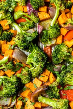 This nourishing Warm Curry Roasted Vegetable Salad with Honey Curry Dressing is a delicious vegetarian, gluten- and dairy-free dinner or make-ahead lunch. Roasted Vegetable Salad, Roasted Vegetables, Veggies, Bacon Recipes, Healthy Recipes, Ww Recipes, Healthy Dinners, Veggie Recipes, Cooker Recipes