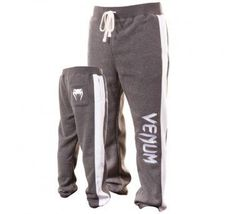 "Venum ""Warm-up"" MMA Pants - Grey (S) by Venum. $54.90. Especially designed for hard workouts, the Venum Giant Pants pack all of Venum's technical knowledge into a good looking package. Soft, pure cotton construction and adjustable drawstring waistband make these an ultra-comfortable choice for serious training sessions! Featuring color blocked contrast side panels and embroidered Venum on left leg and snake head logo on right back. Technical features: - 100% cotton fleece - Side..."