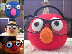 Muppet Glasses Holders Free Crochet Patterns