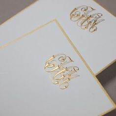 monogrammed stationery - via Fresh Ink: Style Sentiment Stationery in the South: Camille Morris Jason Hellwig Monogram Stationary, Monogrammed Stationery, Wedding Stationary, Lesage, Fun At Work, Couture, Paper Goods, Note Cards, Initials