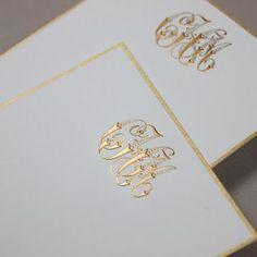 gorg monogrammed stationery