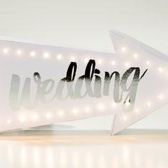 Panneau lumineux LED - Wedding - Cadeaux sur IdéeCadeau.fr