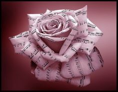 decor idea: music note rose